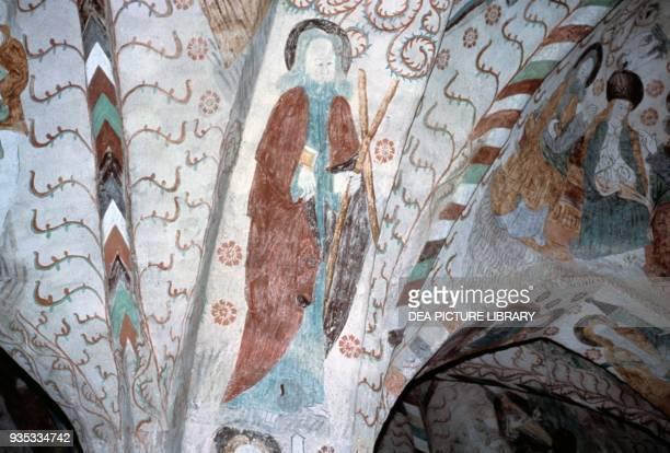 Saint Andrew fresco Holy Cross Church Hattula Finland