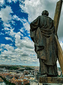 statue saint andrew cathedral almudena madrid
