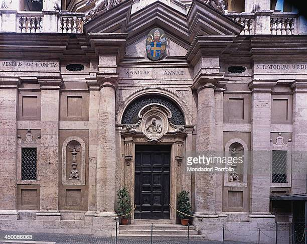 Saint Anne in Vatican attributed to Barozzi Jacopo known as Vignola 1568 1573 16th Century travertine