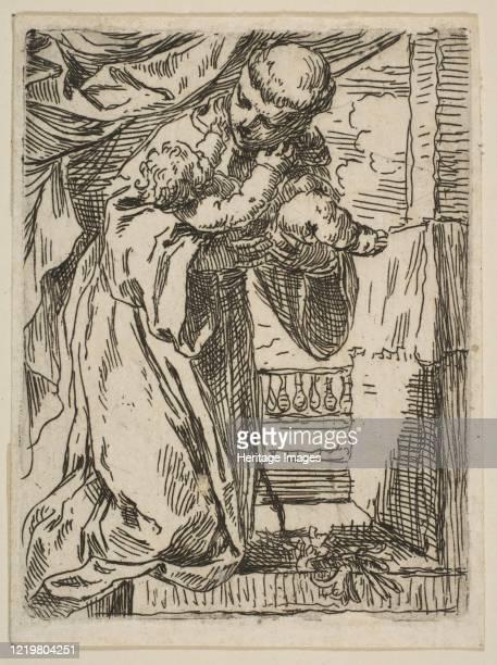 Saint Anthony of Padua holding the Christ Child, ca.1635-1636. Artist Simone Cantarini.