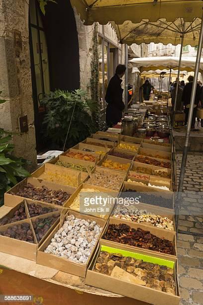 Saint Antonin Noble Val, dried fruit vend