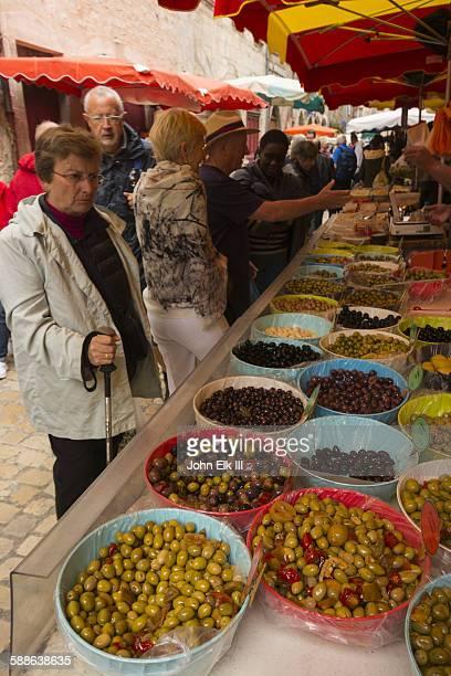 Saint Antonin Noble Val, olive vendor