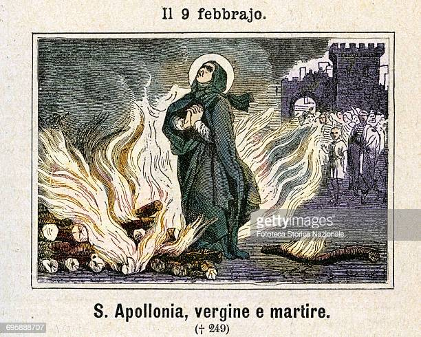 Saint Apollonia Egyptian Christian virgin and martyr She was captured no longer young during a popular uprising antiChristian beaten until they fall...