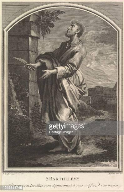 Saint Barthelemy, 1726. After Francois Boucher. Artist Etienne Brion.