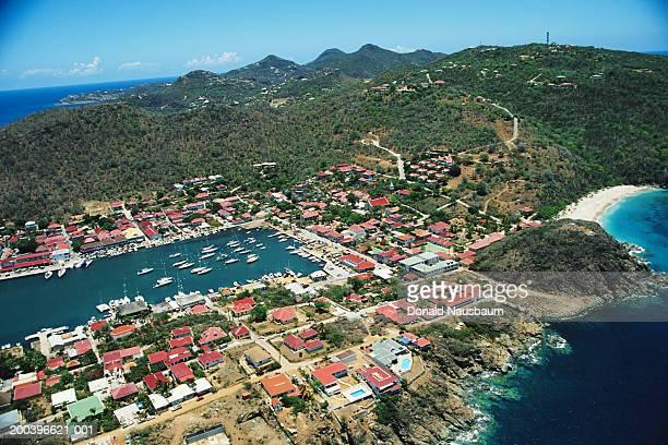 Saint Barthelemy, Gustavia, aerial view