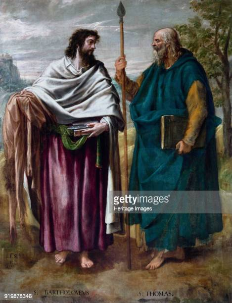 Saint Bartholomew and Saint Thomas 1577 Found in the collection of Monasterio de El EscorialFine Art Images/Heritage Images/Getty Images