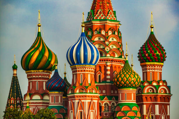 saint basil cathedral at moscow - 俄羅斯 個照片及圖片檔