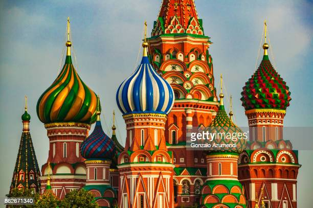 saint basil cathedral at moscow - famous place ストックフォトと画像