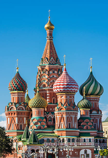 saint basil's cathedral in moscow, russia - 俄羅斯 個照片及圖片檔