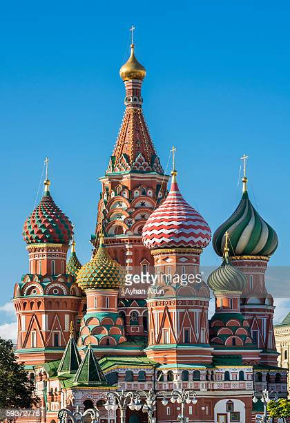 saint basil's cathedral in moscow, russia - russia stock pictures, royalty-free photos & images