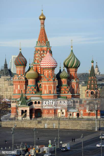 Saint Basil's Cathedral in Moscow The Cathedral of Vasily the Blessed aka Saint Basil's Cathedral is a church in Red Square in Moscow The building...