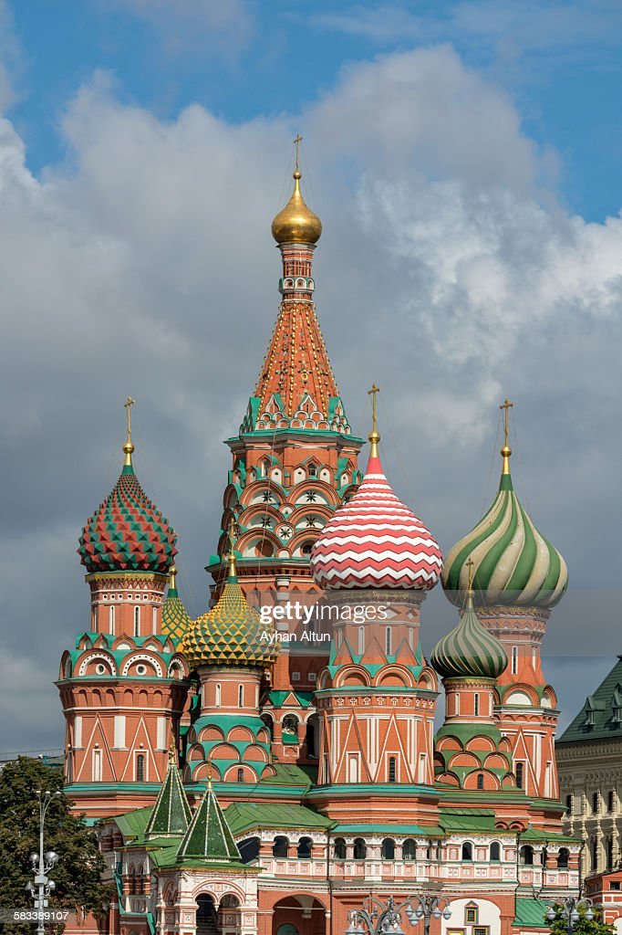 Saint Basil's Cathedral in Moscow,Russia : Stock Photo