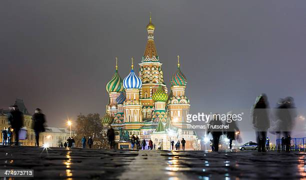 Saint Basil's Cathedral Kremlin is a former church in Red Square on February 13 2014 in Moscow Russia Nowadays the Cathedral is a museum the...