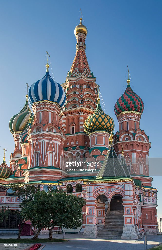 Saint Basil's Cathedral, Red Square, Moscow, : Stock Photo