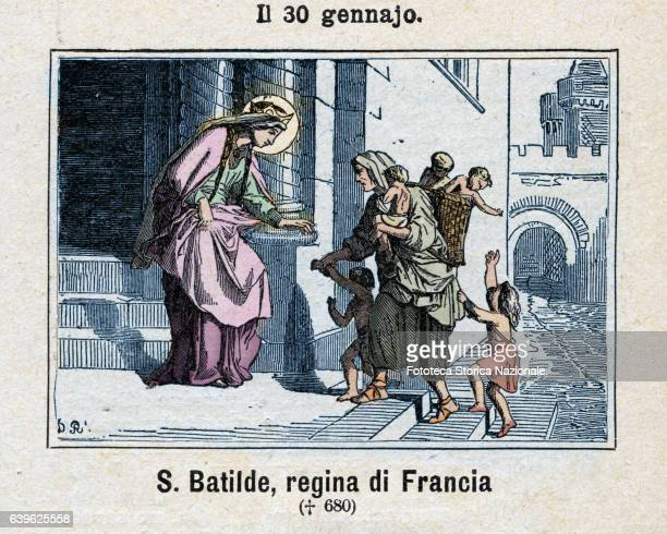 Saint Batilde Wife of the Frankish King Clovis II, queen of Neustria and Burgundy, and for a short time even Austrasia; queen was a humble, modest...