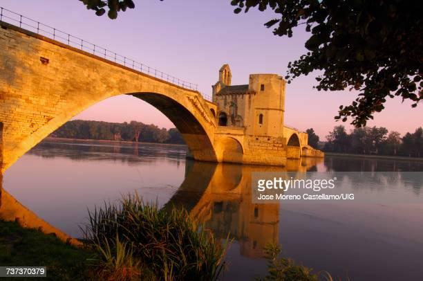 Saint Benezet bridge over Rhone river, Avignon, France