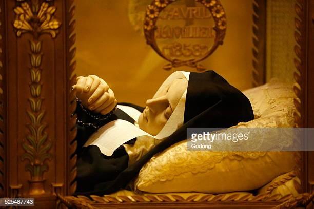 Saint Bernadette Soubirous Crystal Coffin.