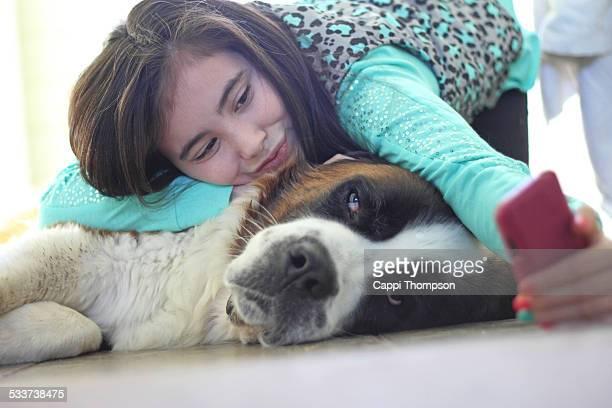 Saint Bernard selfie