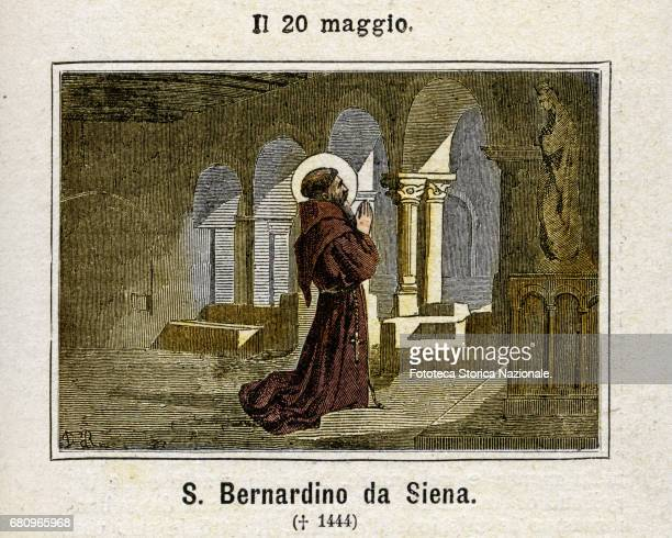 Saint Bernardino of Siena also known as Bernardine; born 8 September 1380, died 20 May 1444, was an Italian priest, Franciscan missionary, and is a...