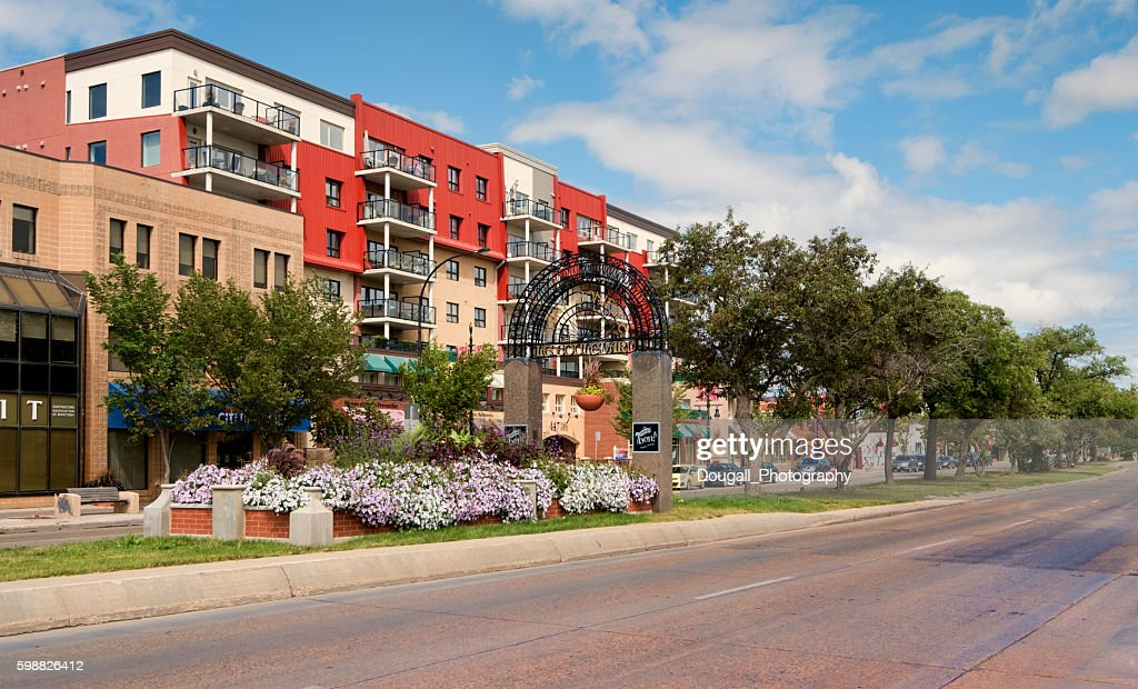 Saint Boniface, Manitoba along Provencher Blvd in Summer : Stock Photo