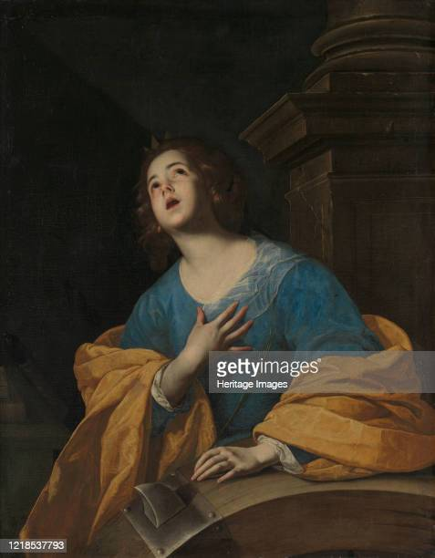 Saint Catherine of Alexandria Fourthcentury Christian martyr shown with the spiked wheel used to torture her Artist Unknown