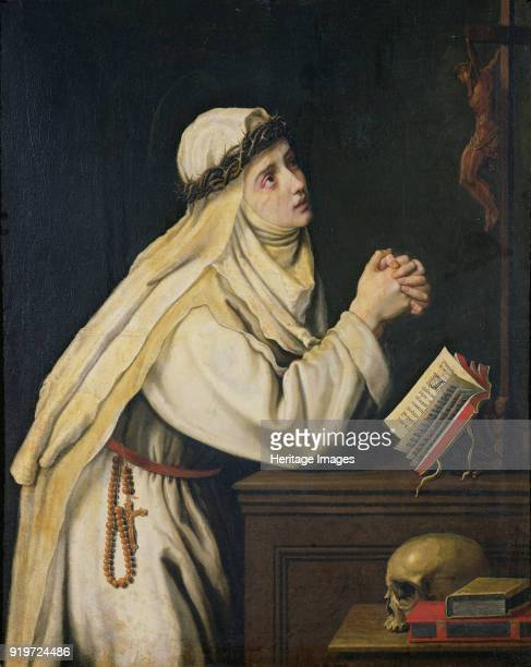 Saint Catherine of Siena c 1620 Found in the Collection of Musée de Picardie Amiens