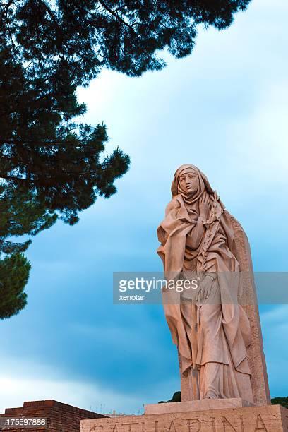 saint catherine de sienne, rome - sainte catherine photos et images de collection