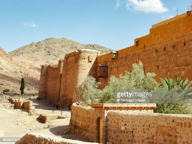 saint catherine's monastery at mount sinai - tourism in south sinai stock pictures, royalty-free photos & images
