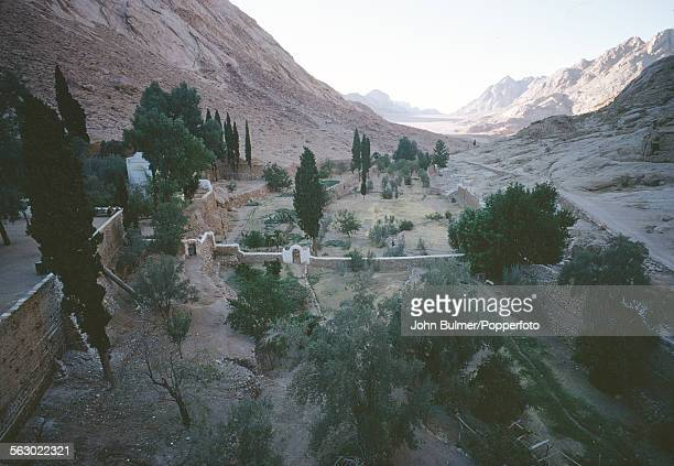 Saint Catherine's Monastery or Santa Katarina a Greek Orthodox monastery on the Sinai Peninsula in Egypt 1967