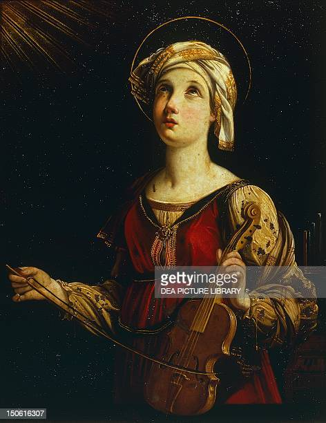 Saint Cecilia 16071608 by Guido Reni oil on canvas