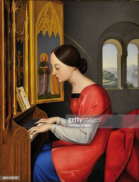 Saint Cecilia 1823 Found in the collection of the Schlossmuseum Weilburg