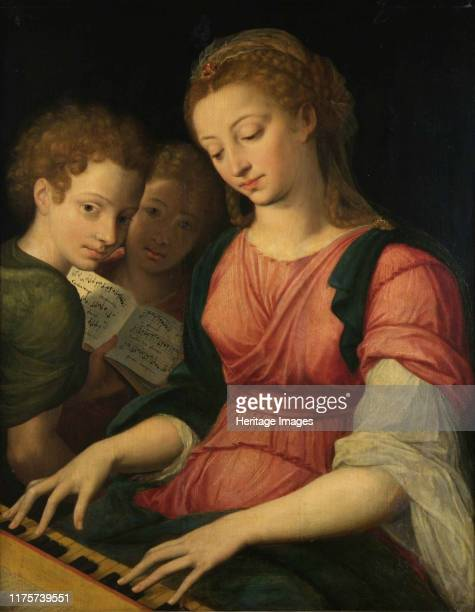 Saint Cecilia Found in the Collection of Musée des BeauxArts Liège Artist Coxcie Michiel