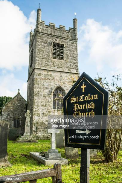 Saint Colan Parish Church in Colan Village in Newquay in Cornwall.