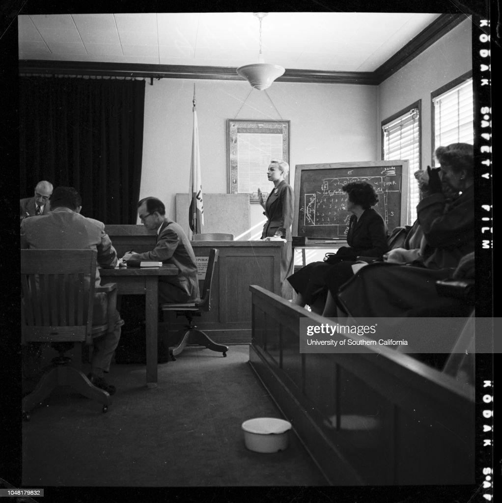 Saint Cyr case...candid shots, 1951 : News Photo