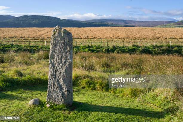Saint Demhan's Cross near Dornoch Firth in Scotland.