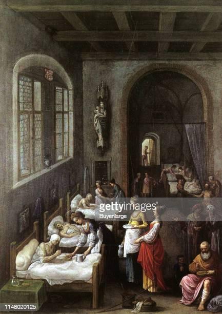 Saint Elizabeth of Hungary by Adam Eisheimer. Saint Elizabeth of Hungary giving Food to Patients in a Hospital.