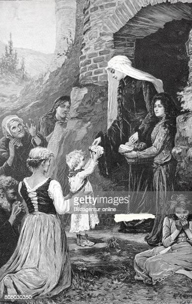 Saint Elizabeth of Hungary, Heilige Elisabeth von Thueringen, 7 July 1207 - 17 November 1231, also known as Saint Elizabeth of Thuringia, historical...