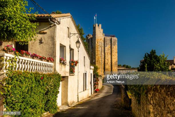 saint emilion, with a beautiful sky. bordeaux, france - anton petrus stock pictures, royalty-free photos & images