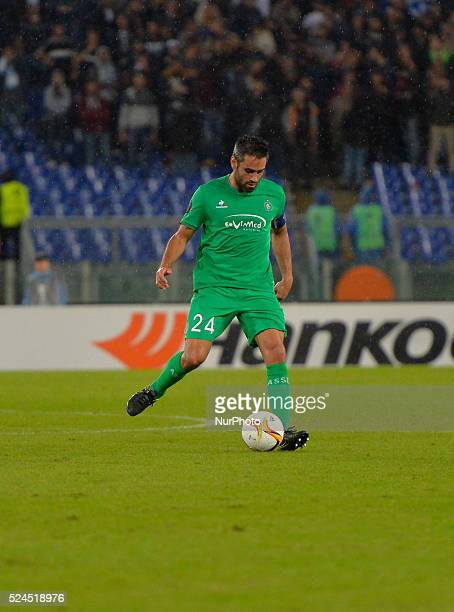 Saint Etienne's defender Loic Perrin during the Europe League football match SS Lazio vs AS Saint��tienne at the Olympic Stadium in Rome on october...