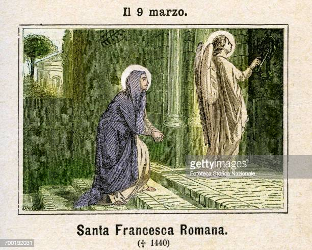 Francesca Ponziani known as Francesca Romana founder of the community of the Oblate Sisters of Tor de' Specchi Canonization of 29 May 1608 Patroness...