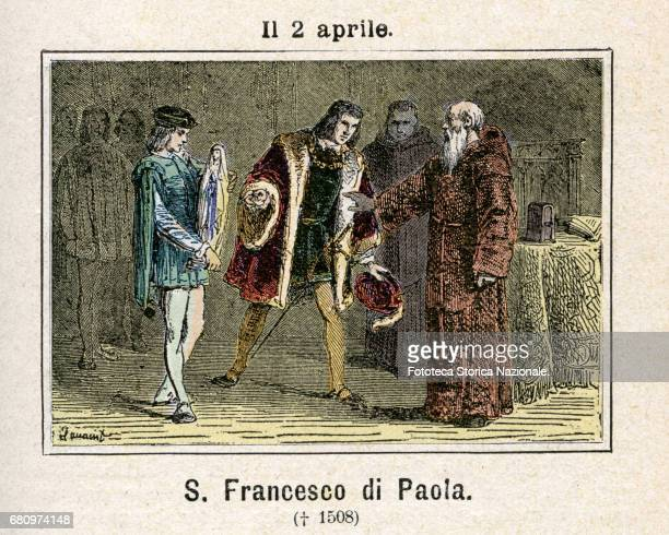 Saint Francesco da Paola , miracle worker, founder of the Order of the Minims. The fame of the miracles performed by him came up to Louis XI of...
