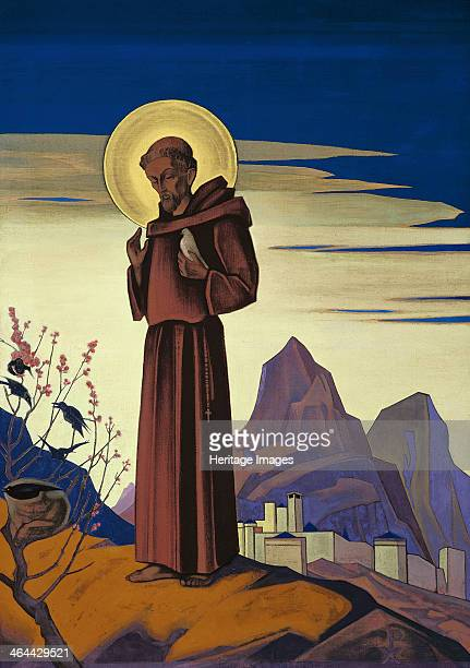 'Saint Francis' 1932 Found in the collection of the Nicholas Roerich Museum New York