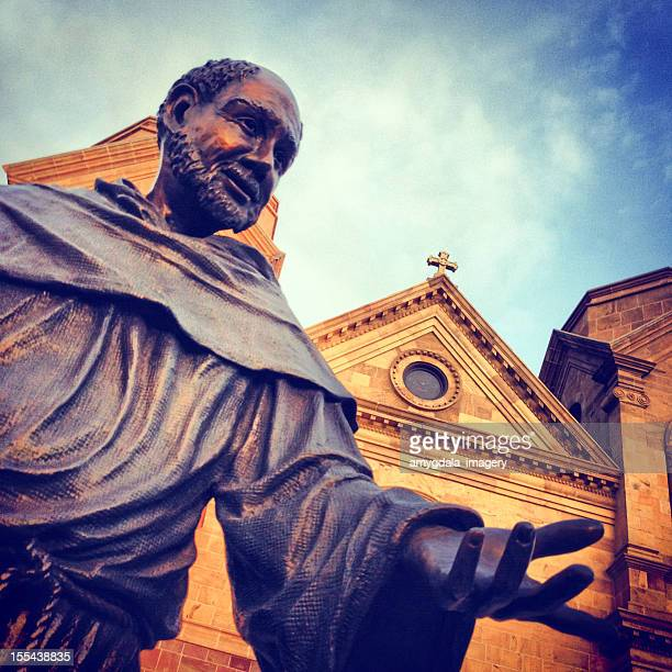 saint francis cathedral basilica - st. francis of assisi stock photos and pictures