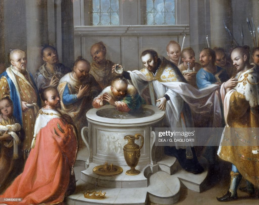 Saint Francis Xavier baptizing the infidels : Fotografía de noticias