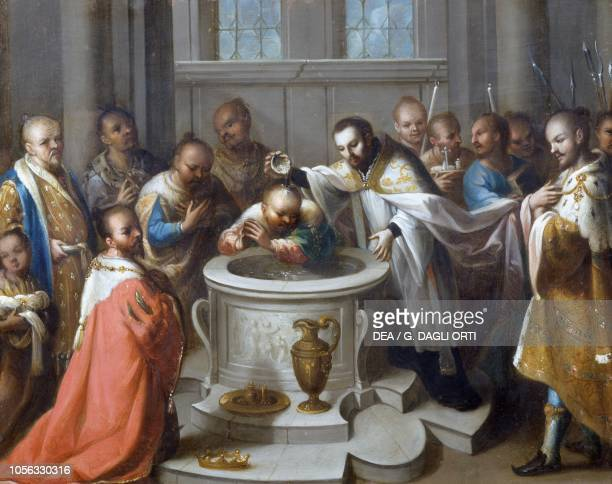 Saint Francis Xavier baptising the infidels painting by Antonio Torres