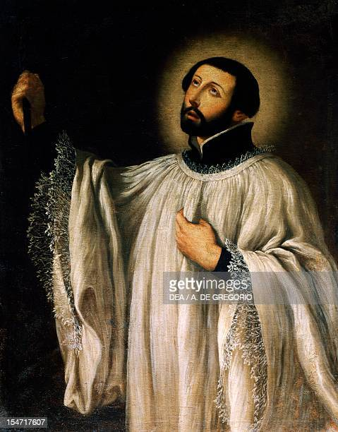 Saint Francis Xavier painting on canvas by Cesare Fracanzano Church of Santa Maria of Nazareth Barletta Apulia Italy 17th century