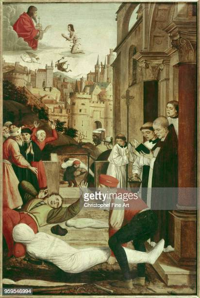 Saint Francois praying during a plague epidemic Anonymous Baltimore Museum Of Art France