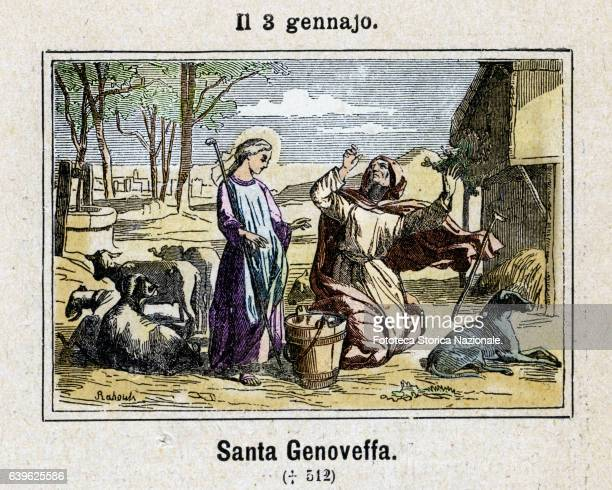 Saint Genoveffa religious franca born in Roman Gaul promoter of Christianity among the Franks and the conversion of Clovis I Belonging to a wealthy...
