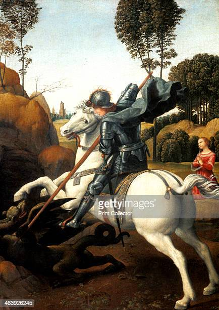 'Saint George and the Dragon' c1506 A Roman soldier of Christian faith Saint George saved the daughter of a pagan king by subduing a dragon with his...