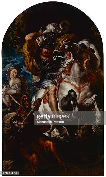 'Saint George and the dragon Copy by Peter Paul Rubens 16021603 17th Century oil on canvas 304 x 182 cm Italy Campania Naples National Museum of...